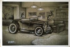 KEITH WEESNER POSTER PRINT 1932 FORD VTG HOT ROD ROADSTER PINUP MID CENTURY ART
