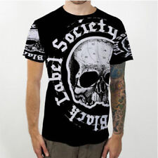 Black Label Society Graphic Tee Casual Black Funny 3D Print Skull T-Shirt602