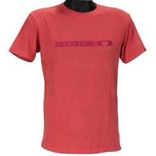 Oakley BLOCK T-Shirt Size XXL Red Marle Mens Boys Slim Fit Tee Shirt