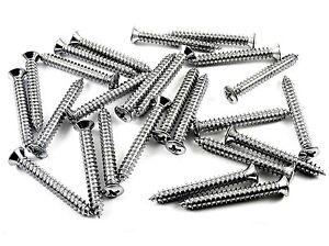 """Jeep Chrome Trim Screws- #10 x 1-1/2"""" Phillips Oval Head- #8 Head- 25 pcs- #310"""