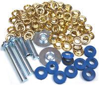 Eyelets  Punch Tool  TZ  TL022 Tarpaulin Repair Kit  30 Brass Coated Grommets