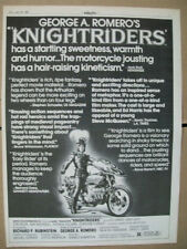 George A Romero Knightriders 1981 Ad- Ed Harris Gary Lahti Tom Savini