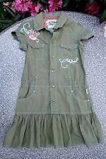 Pampolina Kleid mit Stickereinen Mädchen Gr. 122 (116-122) Grün gepflegt