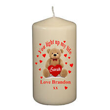Personalised Cute Valentine Keepsake Candle Novelty Present - Gift Wrapped Ready