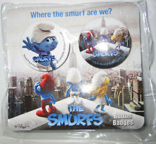 THE SMURFS■DE SMURFEN■LES SCHTROUMPFS■2 PINS■BADGES■BUTTON SET■NEW■SEALED■PEYO