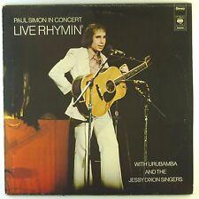 "12"" LP-Paul Simon-Live Rhymin 'Paul Simon in Concert-a2638h"