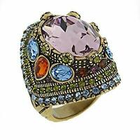 "Heidi Daus ""Shirli Stunning Statement Multi Gemstone Ring Size 7 Retail"