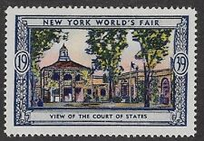 Usa Poster stamp:1939 New York World's Fair: View of Court of States - dw433/32