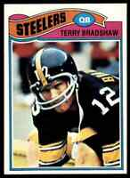 1977 Topps #245 Terry Bradshaw HOF Pittsburgh Steelers / LA Tech
