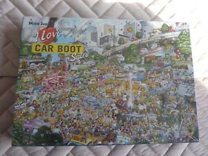 GIBSONS JIGSAW PUZZLE - 1000 PIECES - BRAND NEW - I LOVE CAR BOOTS -  MIKE JUPP