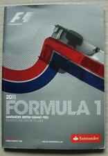 BRITISH GRAND PRIX FORMULA ONE F1 2011 SILVERSTONE Official Programme