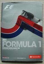 British Grand Prix FORMULA UNO F1 2011 SILVERSTONE PROGRAMMA UFFICIALE