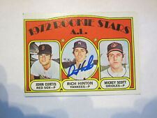 1972 Topps # 724 Rich Hinton Autograph / Signed card (C19) New York Yankees