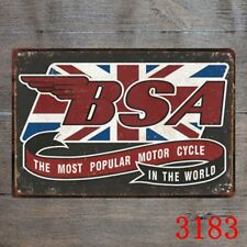 Metal Tin Sign  BSA most popoular motorcycle Decor Bar Pub Home Vintage Retro