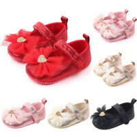 Baby Girl Shoes Comfortable Butterfly-knot Casual First Walkers Kid Shoes AU