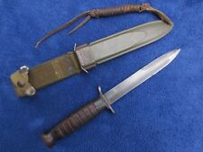 RARE WW2 ORIGINAL M3 KNIFE AND SHEATH MADE BY PAL GUARD MARKED