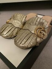 Gucci Gold Fringe Loafers 36