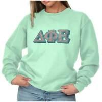 Vintage Authentic Delta Phi Epsilon Sorority Sweat Shirt Sweatshirt For Womens