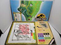 Vintage Jurassic Park Dinosaur Board Game 100% Complete Milton Bradley 1992