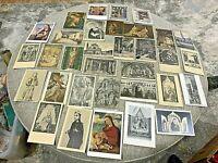 Vintage Lot Of 33 Catholic Theme Postcards