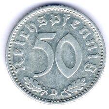 III. Reich 50 Reichspfennig 1935 D. (Alu.) Jaeger 368, ss/vz