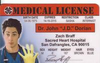 Zach Braff Dr John Dorian of SCRUBS Doctor Hospital CA Drivers License
