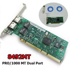 Intel 8492MT PRO/1000MT Dual Port Server PCI/PCI-X Adapter Network Card at