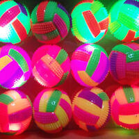 1x LED BiBi Sound Volleyball Flashing Light Up Bouncing Ball Toys For Kids Pets