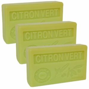 3 x 100g Bars - Lime Scented French Soap with Organic Argan Oil