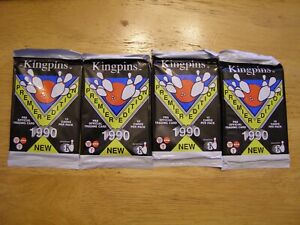 1990 Kingpins Premiere Edition Bowling Trading Cards 4  New Unopened Packs