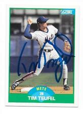 TIM TEUFEL 1989 SCORE AUTOGRAPHED SIGNED # 58 METS