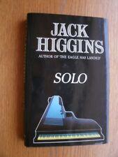 Jack Higgins Solo 1st HC UK SIGNED Fine