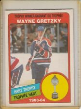 84-85 WAYNE GRETZKY O-PEE-CHEE #374 HART TROPHY WINNER CARD EXCELLENT CONDITION