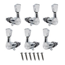 Set of 3L 3R LP Electric Guitar Tuning Pegs Locking Tuners Machine Heads Chrome
