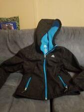 Snozu Youth Girl's Hooded Softshell Jacket Size L(14/16) - Black/blue floral