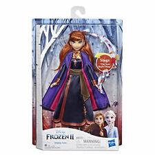 Disney Frozen 2 Singing Anna Fashion Doll with Music Wearing a Purple Dress