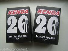 2x Kenda Bike / Cycle inner tubes 26 x 1.5  / 2.125 A/V