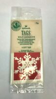 Vintage Christmas Gift Tags Hallmark Cards Snowflake Decorations Adhesive Set 4
