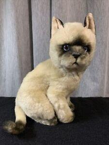 """1987 Applause Avanti Siamese Kitten Cat 10"""" Plush Stuffed Animal"""
