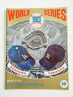 Rare Vintage 1963 World Series LA Dodgers VS NY Yankees Baseball Program