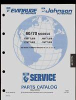1991 OMC / JOHNSON  / EVINRUDE 60 / 70TTL  MODELS OUTBOARD PART MANUAL