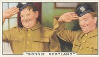 1935 Gallaher Cigarettes~LAUREL & HARDY~Stars of Screen & Stage~Tobacco Card #46