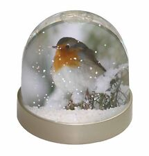 Robin Red Breast in Snow Tree Photo Snow Globe Waterball Stocking Fill, AB-R16GL