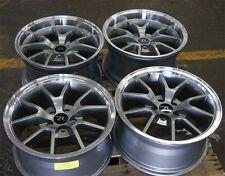 "18"" Gunmetal Mustang FR500 Replica Deep Dish Wheels 18x9 18x10 5x4.5 94-04"