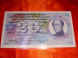 Switzerland, 1961 20 Francs Banknote, Crisp Uncirculated CU