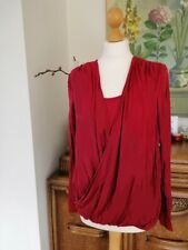 NEW £65 Michael Kors surplice faux wrap modern tee / chic top 70% off designer