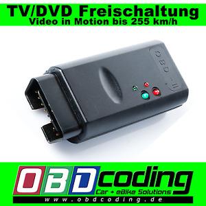 TV/DVD Freischaltung - Video in Motion bis 255 km/h BMW 4er F32 F33 F36 F82 F83
