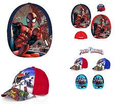 Garçon Officiel Super Héros Superman Spiderman Power Rangers Casquette Baseball