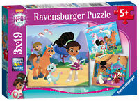 08056 Ravensburger Nella the Princess Knight Jigsaw Puzzles 3x49pc Childrens Age