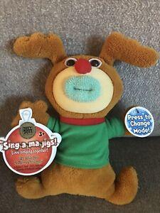 Mattel Sing-A-Ma-Jigs We Wish You A Merry Christmas Plush W/ Original Tags